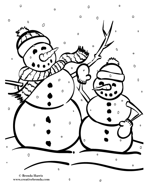 Winter Coloring Pages Creative Brendarhcreativebrenda: Winter Coloring Pages Pdf Download At Baymontmadison.com