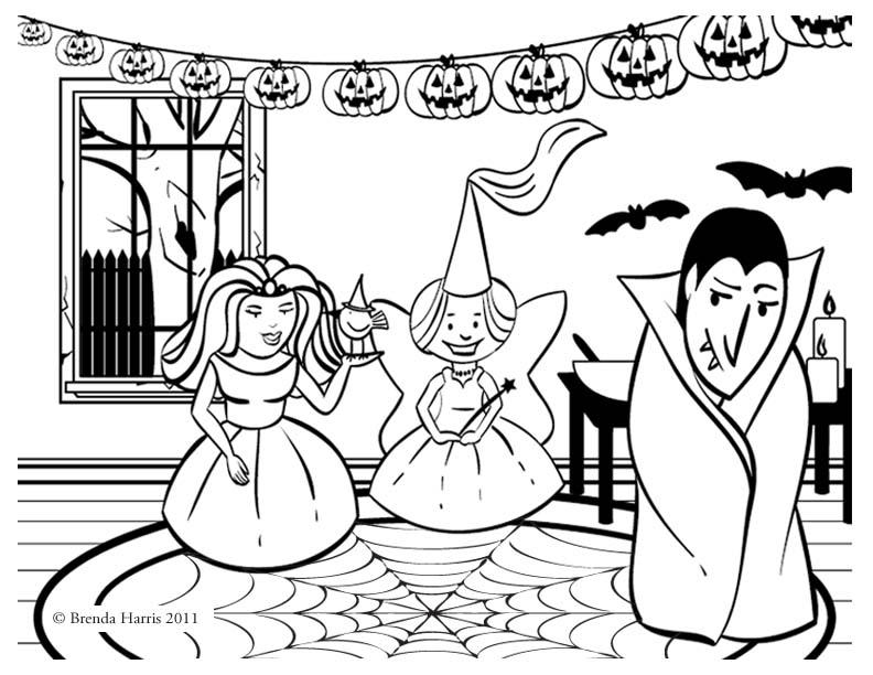 October Coloring Pages - Creative Brenda
